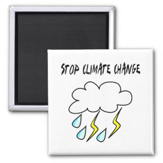 Stop climate Change! Ecology products! Square Magnet