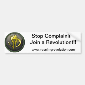 Stop Complaining Sticker Bumper Sticker