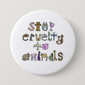 stop cruelty to animals - Customized 7.5 Cm Round Badge