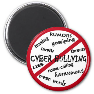 Stop Cyber Bullying 6 Cm Round Magnet