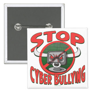 Stop Cyber-Bullying Anti Cyberbully Gear 15 Cm Square Badge