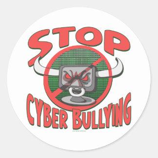 Stop Cyber-Bullying Anti Cyberbully Gear Round Sticker