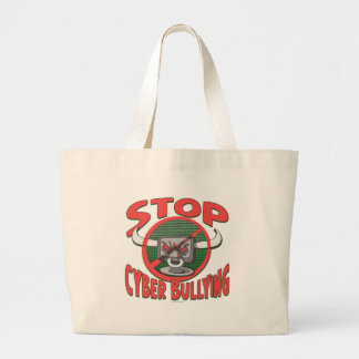Stop Cyber-Bullying Anti Cyberbully Gear Jumbo Tote Bag