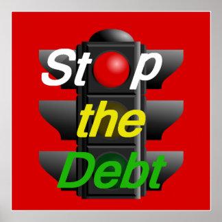 STOP Debt POSTER Print