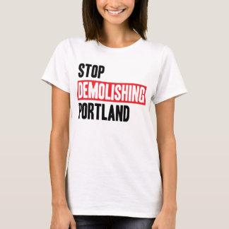 Stop Demolishing Portland - light colors, women's. T-Shirt