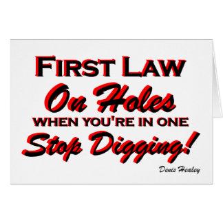 Stop Digging! Card