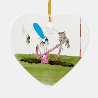 stop digging - golf, tony fernandes ceramic heart decoration