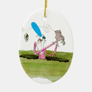 stop digging - golf, tony fernandes christmas ornament