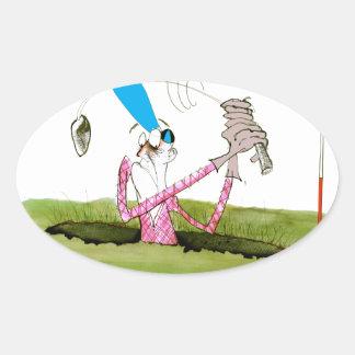 stop digging - golf, tony fernandes oval sticker