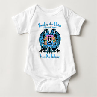 Stop Dog Fighting, American Pit Bull Terrier Dog Baby Bodysuit