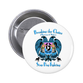 Stop Dog Fighting, American Pit Bull Terrier Dog 6 Cm Round Badge