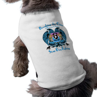 Stop Dog Fighting, American Pit Bull Terrier Dog Sleeveless Dog Shirt