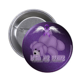 stop domestic abuse bear button