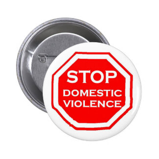 Stop Domestic Violence 6 Cm Round Badge