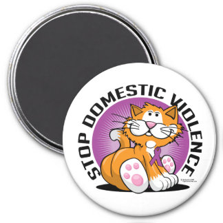 Stop Domestic Violence Cat Magnet