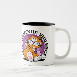 Stop Domestic Violence Cat Coffee Mug
