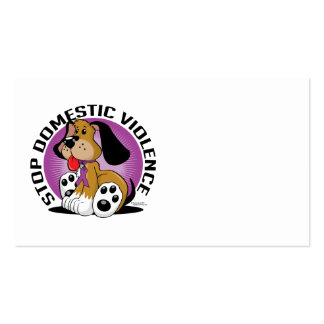 Stop Domestic Violence Dog Business Cards