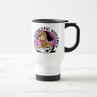 Stop Domestic Violence Dog Coffee Mug