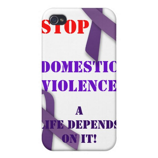 Stop Domestic Violence Iphone Case iPhone 4/4S Cover