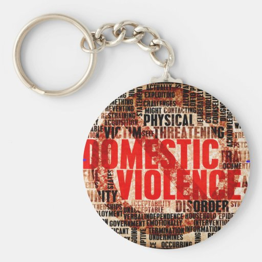 Stop Domestic Violence Key Chains