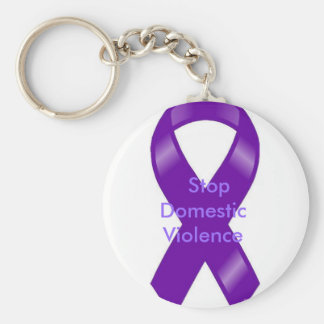 Stop Domestic Violence Key Ring