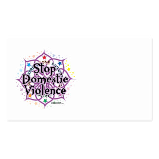Stop Domestic Violence Lotus Business Cards