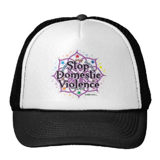 Stop Domestic Violence Lotus Hats