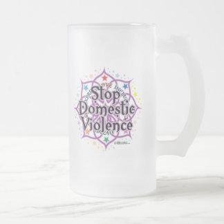 Stop Domestic Violence Lotus Coffee Mugs