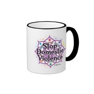 Stop Domestic Violence Lotus Coffee Mug