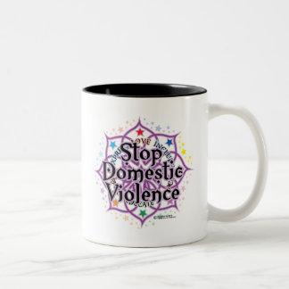 Stop Domestic Violence Lotus Mug