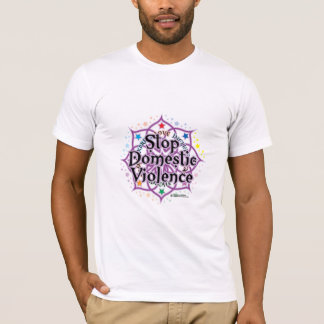 Stop Domestic Violence Lotus T-Shirt