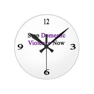 Stop Domestic Violence Now Wallclocks