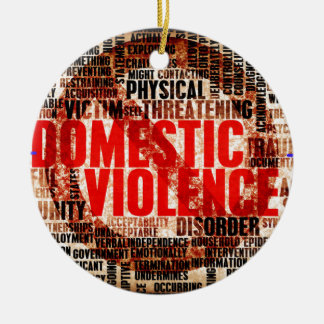 Stop Domestic Violence Round Ceramic Decoration