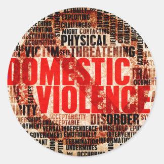 Stop Domestic Violence Round Sticker