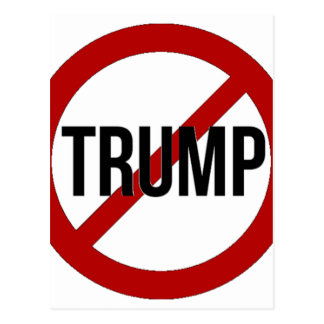 Stop Donald Trump Anti-Trump Postcard