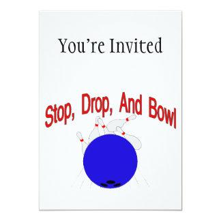 Stop Drop Bowl 5x7 Paper Invitation Card