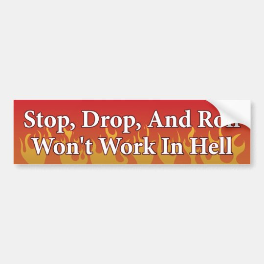 Stop, Drop, Roll Bumper Sticker