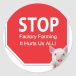 Stop Factory Farms Series 1 Round Sticker