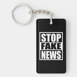 Stop Fake News Key Ring