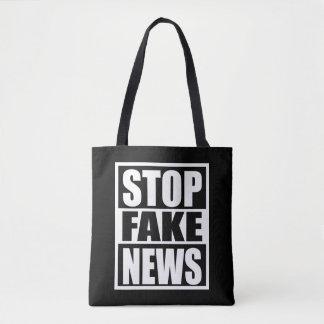 Stop Fake News Tote Bag