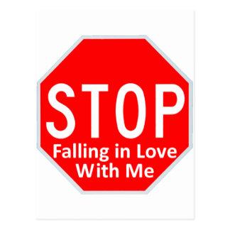 Stop Falling In Love Postcard