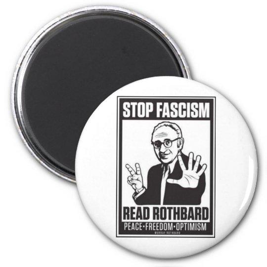 Stop Fascism 6 Cm Round Magnet
