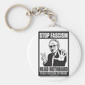 Stop Fascism Basic Round Button Key Ring