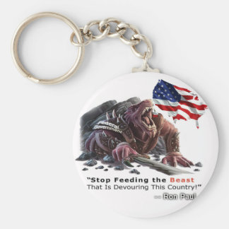 STOP Feeding the Beast Basic Round Button Key Ring