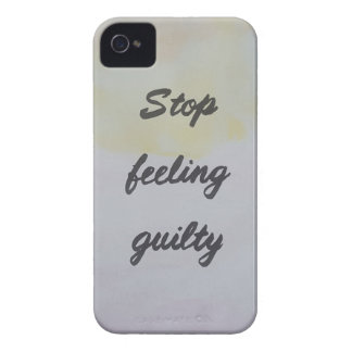 Stop Feeling Guilty iPhone 4 Case-Mate Case