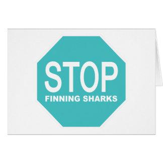 Stop Finning Sharks Sign Card