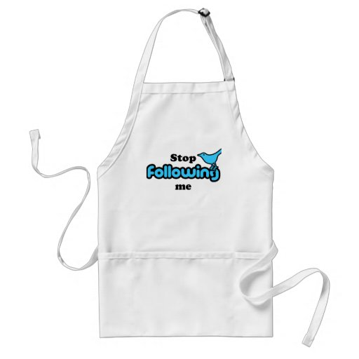 Stop following me aprons
