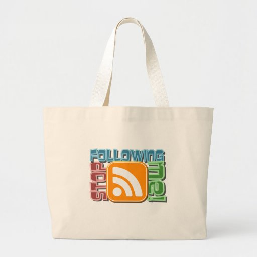 Stop Following Me! RSS Icon Button Design Tote Bag