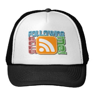 Stop Following Me! RSS Icon Button Design Hats