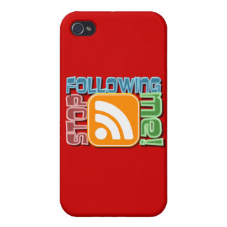 Stop Following Me RSS Icon Button Design iPhone 4/4S Cover